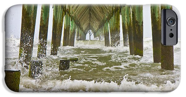 Cutler iPhone Cases - Topsail Island Pier iPhone Case by Betsy A  Cutler
