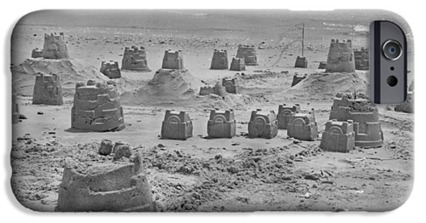 Sand Castles Photographs iPhone Cases - Topsail Island Sandcastle iPhone Case by Betsy A  Cutler