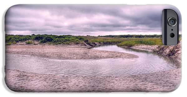 Tidal Creek iPhone Cases - Topsail Serenity  iPhone Case by Betsy A  Cutler