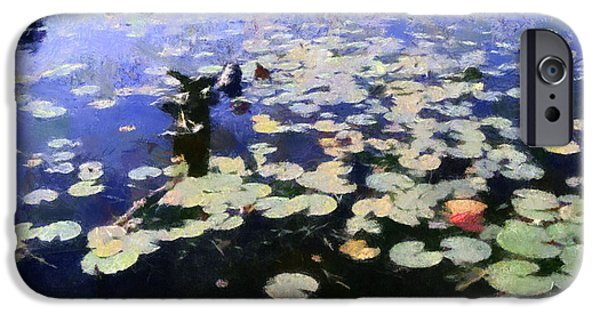 Lilly Pads iPhone Cases - Torch River Water Lilies 3.0 iPhone Case by Michelle Calkins
