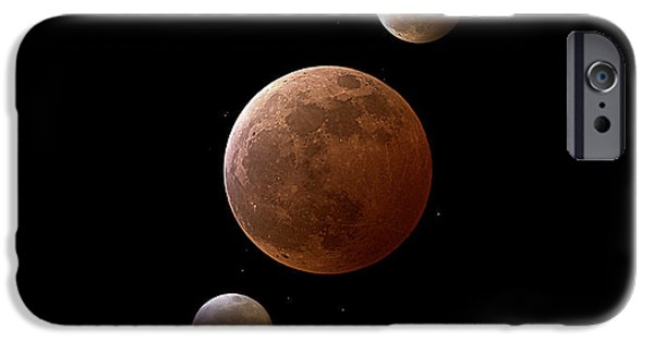 Refracted Light iPhone Cases - Total Lunar Eclipse iPhone Case by Eckhard Slawik