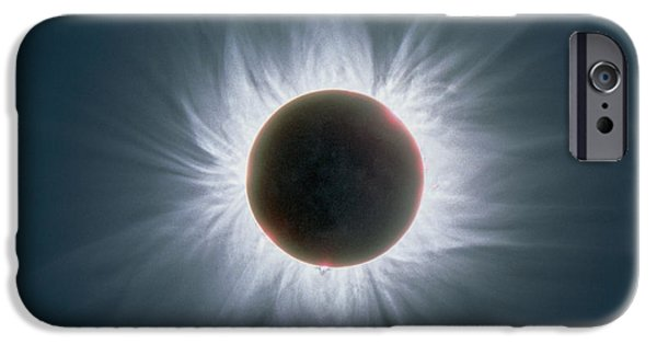 Solar Eclipse iPhone Cases - Total Solar Eclipse With Corona iPhone Case by Dr Fred Espenak