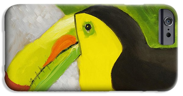 Yellow Beak Paintings iPhone Cases - Toucan iPhone Case by Katie OBrien - Printscapes