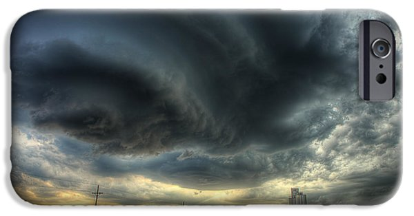 Storm Photographs iPhone Cases - Toulon Turmoil iPhone Case by Thomas Zimmerman