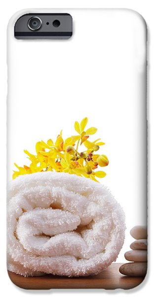 towel roll iPhone Case by ATIKETTA SANGASAENG