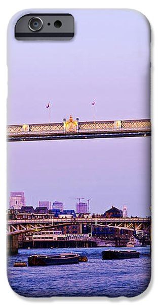 Tower bridge in London at dusk iPhone Case by Elena Elisseeva