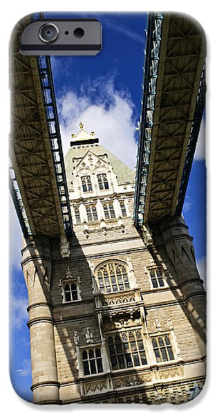 High Tower iPhone Cases - Tower bridge in London iPhone Case by Elena Elisseeva