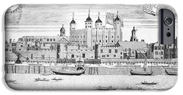 Sutton iPhone Cases - Tower Of London, 1715 iPhone Case by Granger