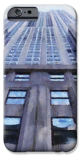 Empire State iPhone Cases - Tower of Steel and Stone iPhone Case by Jeff Kolker