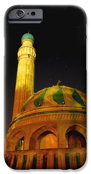 Towering Mosque in the Night iPhone Case by Rick Frost