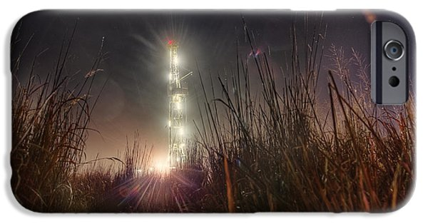 Fuels iPhone Cases - Towering Oil iPhone Case by Thomas Zimmerman