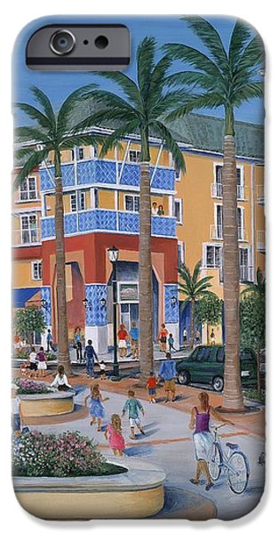 Town Center Abacoa Jupiter iPhone Case by Marilyn Dunlap