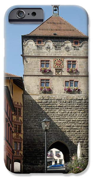 Town gate Schwarzes Tor in Rottweil Germany iPhone Case by Matthias Hauser