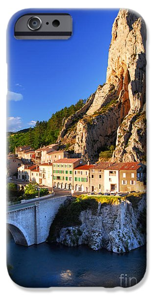 House iPhone Cases - Town of Sisteron in Provence France iPhone Case by Elena Elisseeva