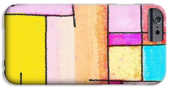 Colorful Abstract Pastels iPhone Cases - Town iPhone Case by Setsiri Silapasuwanchai