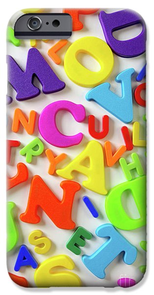 Toy Letters iPhone Case by Carlos Caetano