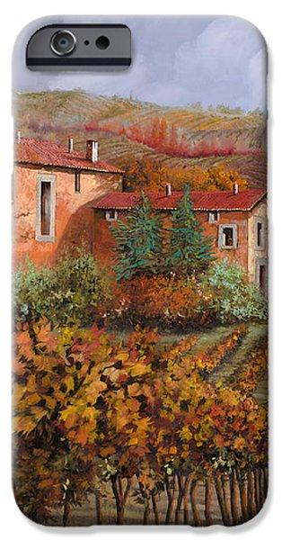 tra le vigne a Montalcino iPhone Case by Guido Borelli