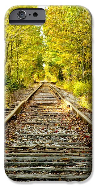 Concord Photographs iPhone Cases - Track to Nowhere iPhone Case by Greg Fortier