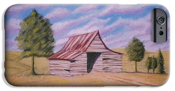Best Sellers -  - Shed Pastels iPhone Cases - Tractor Shed iPhone Case by Stacy C Bottoms