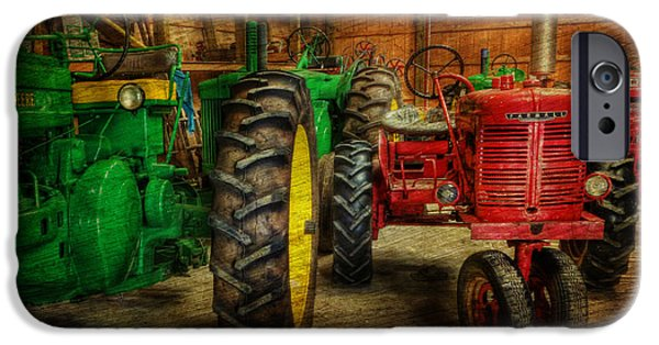 Best Sellers -  - Work Tool iPhone Cases - Tractors at Rest - John Deere - Mccormick - Farmall - farm equipment - nostalgia - vintage iPhone Case by Lee Dos Santos