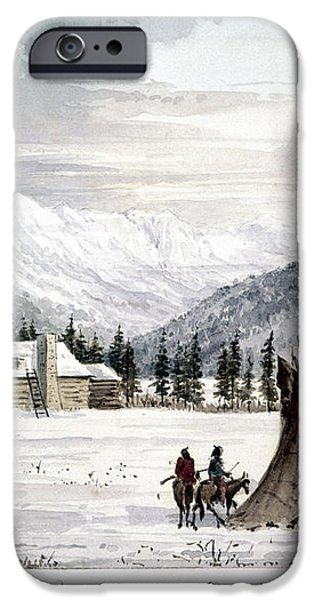 TRADING OUTPOST, c1860 iPhone Case by Granger