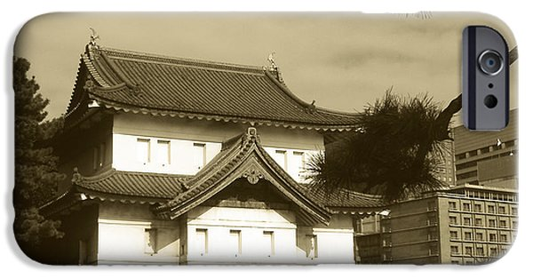 History iPhone Cases - Traditional Building in Tokyo iPhone Case by Naxart Studio
