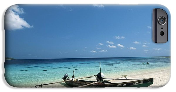 Jaco iPhone Cases - Traditional Fishing Boat, Timor -leste iPhone Case by Louise Murray