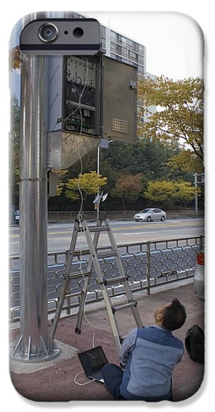 Traffic Control System, Daejeon iPhone Case by Mark Williamson
