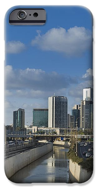 Traffic Flowing in and Out of Downtown Tel Aviv iPhone Case by Noam Armonn