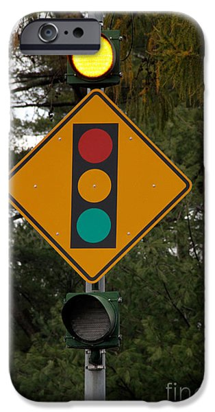 Traffic Sign iPhone Cases - Traffic Sign iPhone Case by Photo Researchers