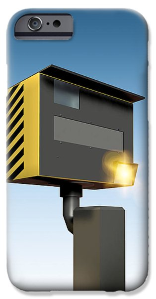 Police Traffic Control iPhone Cases - Traffic Speed Camera iPhone Case by Victor Habbick Visions