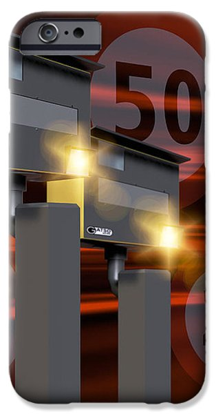 Traffic Speed Cameras iPhone Case by Victor Habbick Visions