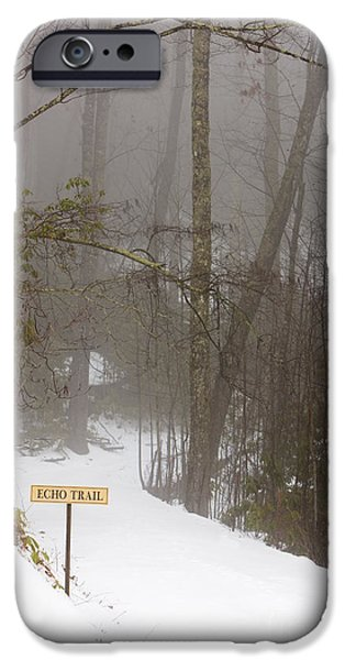 Trailhead Covered With Snow iPhone Case by Will and Deni McIntyre