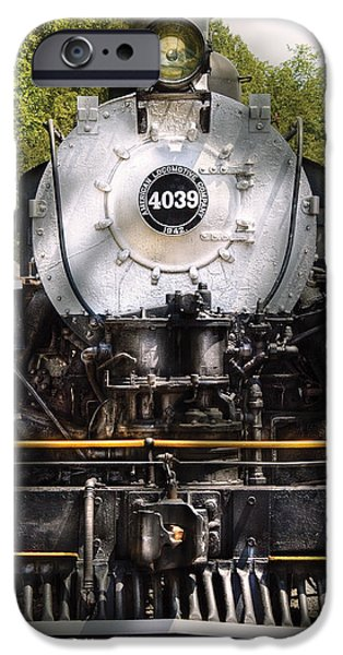Train - Engine - 4039 American Locomotive Company  iPhone Case by Mike Savad
