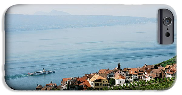 Vineyard Photograph iPhone Cases - Tranquil Lake Geneva iPhone Case by Ivy Ho