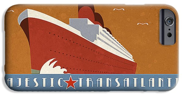 Vintage Travel iPhone Cases - Transatlantic iPhone Case by Cinema Photography