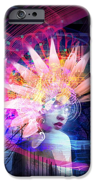 Surreal Mixed Media iPhone Cases - Transcendance iPhone Case by Philip Straub