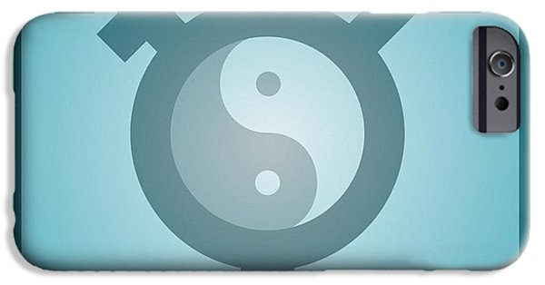 Yin iPhone Cases - Transgender Balance, Conceptual Artwork iPhone Case by Stephen Wood
