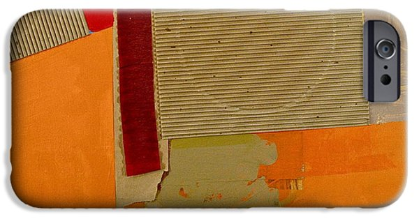 Cardboard Mixed Media iPhone Cases - Transition 4 Red Crepe iPhone Case by Cliff Spohn