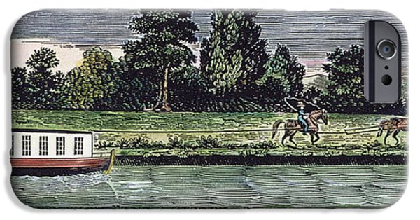 Horse iPhone Cases - TRANSPORT: CANALS, 19th C iPhone Case by Granger