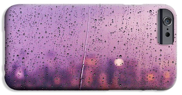 Rainy Day iPhone Cases - Trapped Behind Glass iPhone Case by Ariane Moshayedi