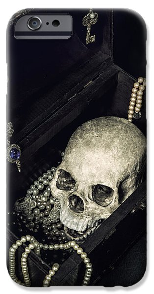 Creepy iPhone Cases - Treasure Chest iPhone Case by Joana Kruse