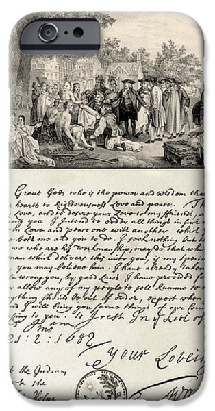 Treaty Between William Penn iPhone Case by Photo Researchers