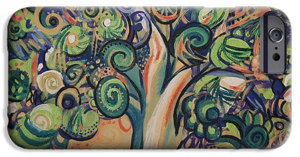Genevieve iPhone Cases - Tree Candy iPhone Case by Genevieve Esson