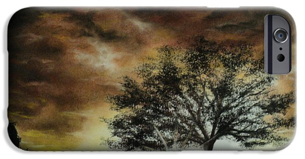Clouds Pastels iPhone Cases - Tree of Life iPhone Case by Carla Carson