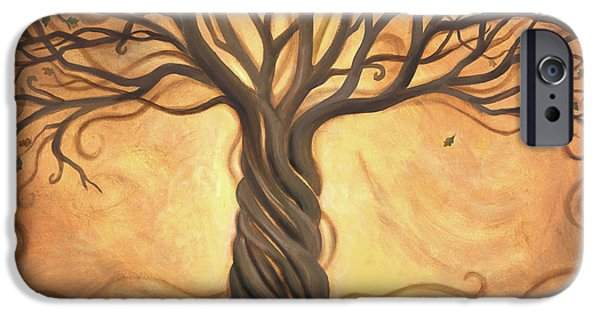 Images Paintings iPhone Cases - Tree of Life iPhone Case by Renee Womack
