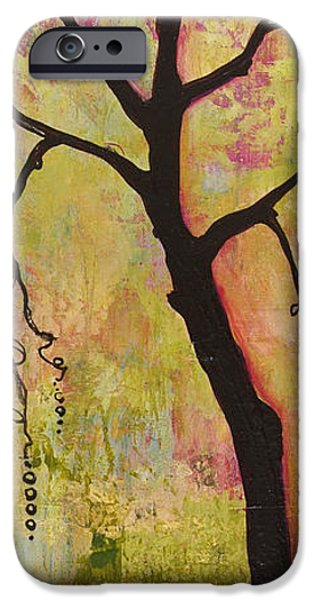 Tree Art Print Paintings iPhone Cases - Tree Print Triptych Section 1 iPhone Case by Blenda Studio