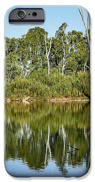 Tree Stumps in the River iPhone Case by Kaye Menner