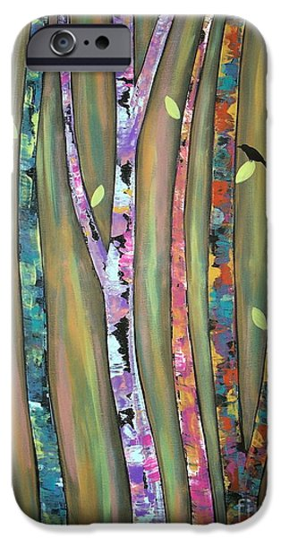 Recently Sold -  - Tree Art Print iPhone Cases - Tree Whistlers iPhone Case by Karla Gerard