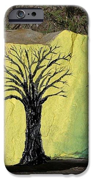 Tree with Lovebirds iPhone Case by Monika Dickson-Shepherdson